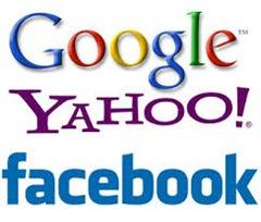 yahoo google facebook